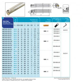 AKKO Einschraubfräser für Wendeplatten Typ APKT 1003