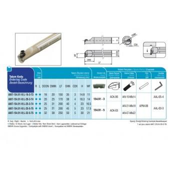 END MILLS TYPE CODE AEM90-AP10-D14-W16-L150-Z01