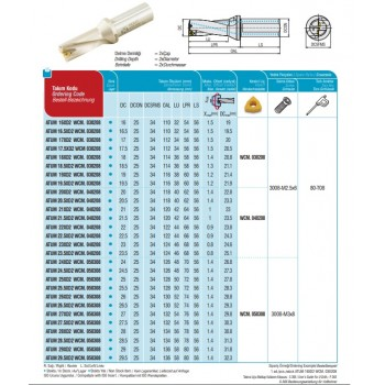 AKKO Bohrstange 107,5° MTQNR/L 16/22