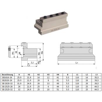 AKKO Innenstechhalter für Stechplatten Typ Kennametal A4